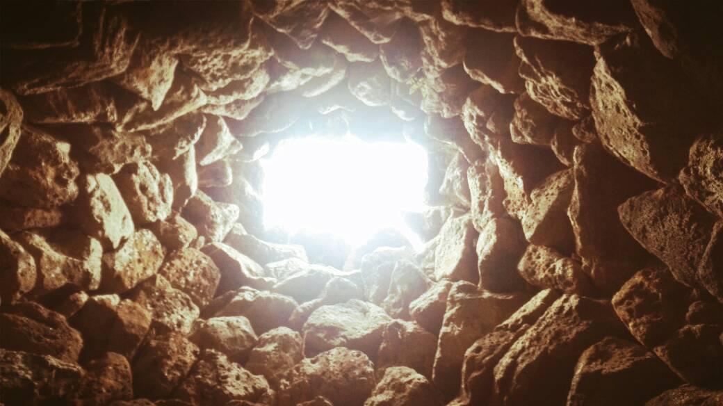 interno nuraghe arrubiu