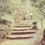 La scalinata che conduce alla grotta