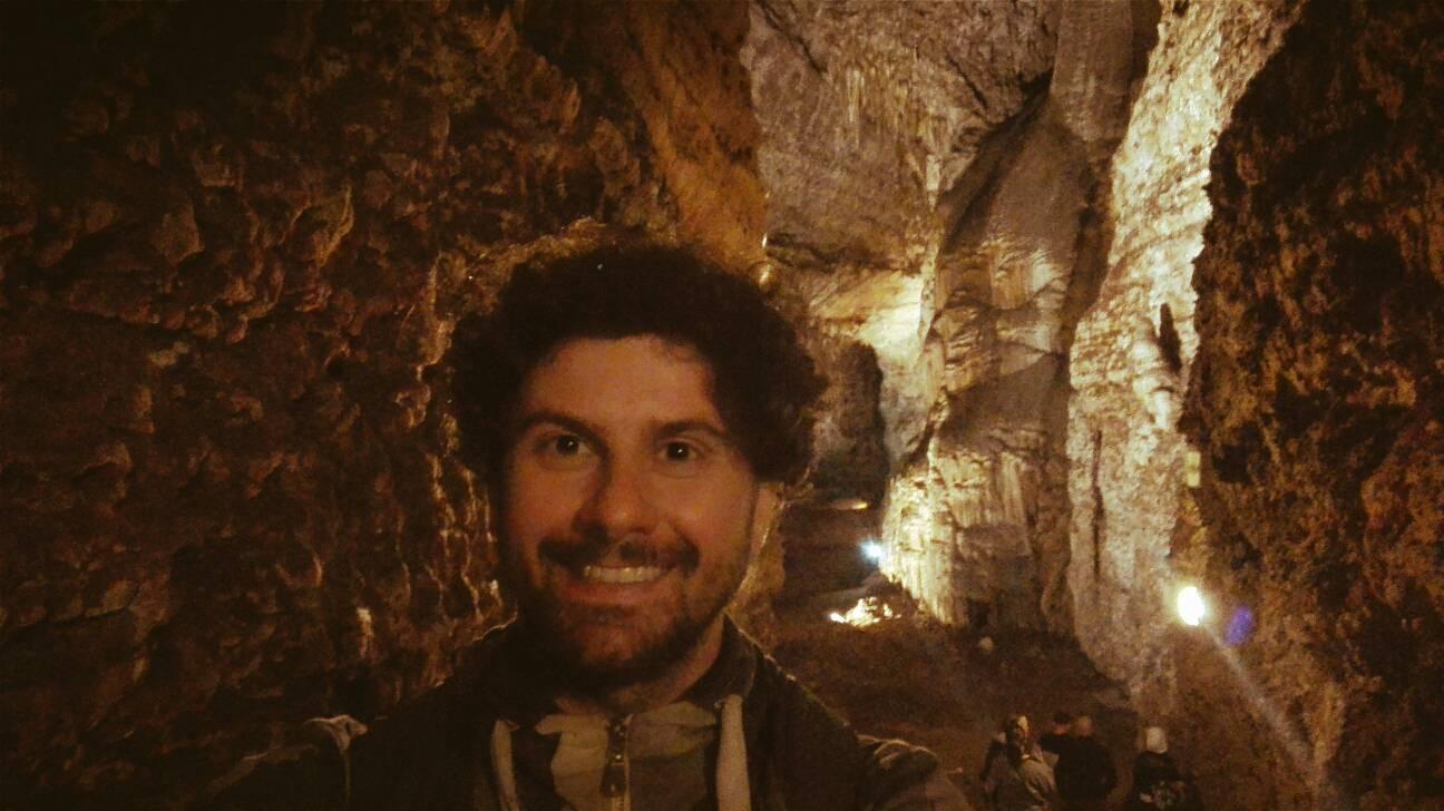 la grotta di Ulassai, stalattiti